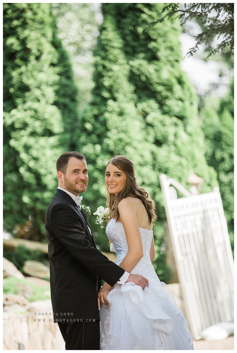 Wedding couple during their wedding in Villa Bianca in Seymour CT near New Haven CT